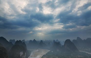 Cloudy Sunset in Guilin Guangxi China
