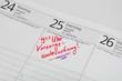Vorsorgetermin im Kalender notiert
