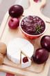 chutney plum with cheese