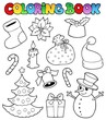 Coloring book Christmas images 1
