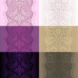 lace ribbon seamless paisley pattern