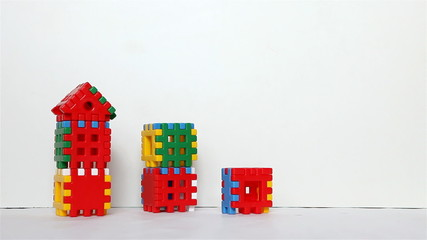 time-lapse, construction of buildings houses