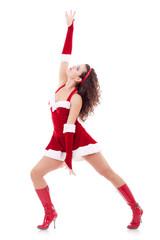 dancing santa woman