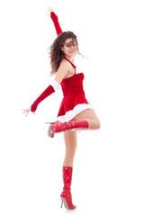 santa woman dancing