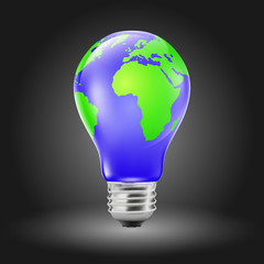 Light Bulb Shaped Earth