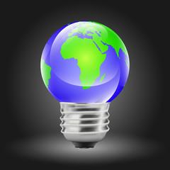 Earth Shaped Bulb