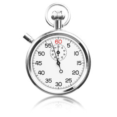 vintage stopwatch isolated