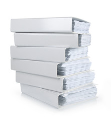 a stack of file Office binder