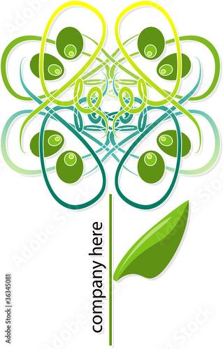 Logo fiore stilizzato
