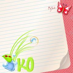 hintergrund papier mit öko zeichen