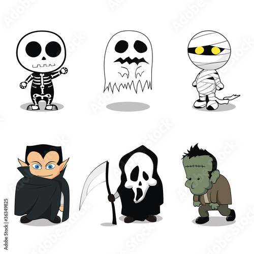 Halloween Ghost Character Costumes