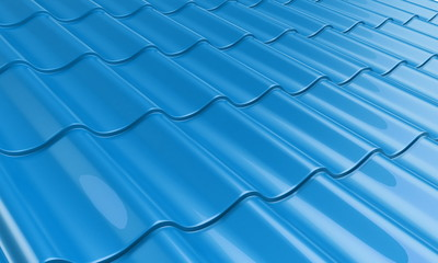 roof metal tile blue