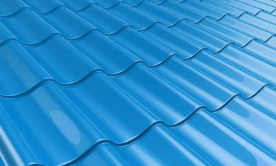 roof metal tile blue