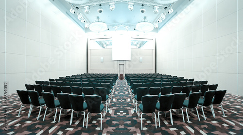 Papiers peints Opera, Theatre interior of modern conference hall