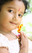 Portrait of Indian Cute Girl