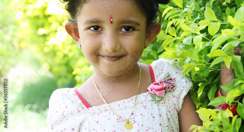 Smiling Indian Cute Girl