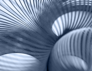 metallic spiral abstract