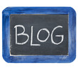 blog on slate blackboard
