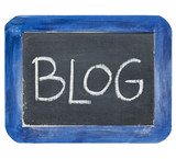 blog on slate blackboard