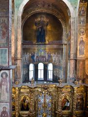Interior of Saint Sophia Cathedral in Kiev, Ukraine