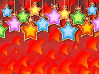 Natale Sfondo di Stelle Colorate-Christmas Stars Background