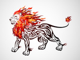 Tribal Fire Lion