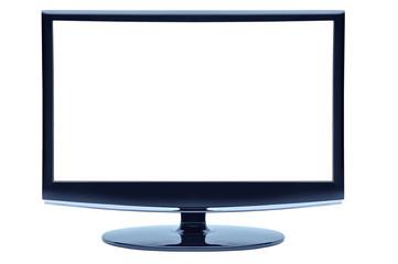 blue color widescreen monitor