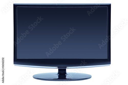 blue color widescreen monitor