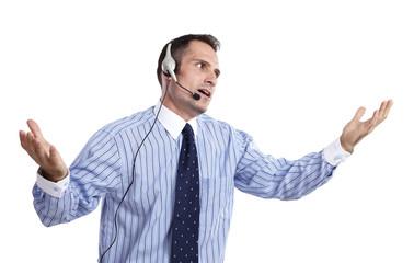 Business, Mann, Headphone 05