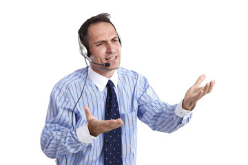 Business, Mann, Headphone 04