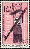 American indian craftsmanship on post stamp poster