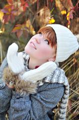 girl in fall time