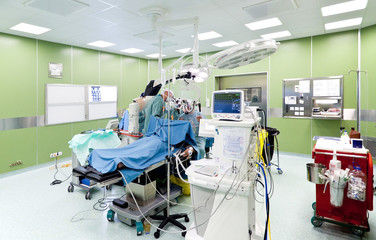 Surgery in operating room