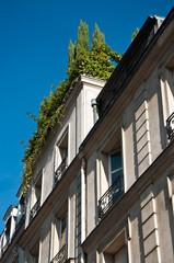 terrasse en haut d'un immeuble