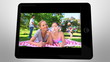tablet displaying videos about family leisure