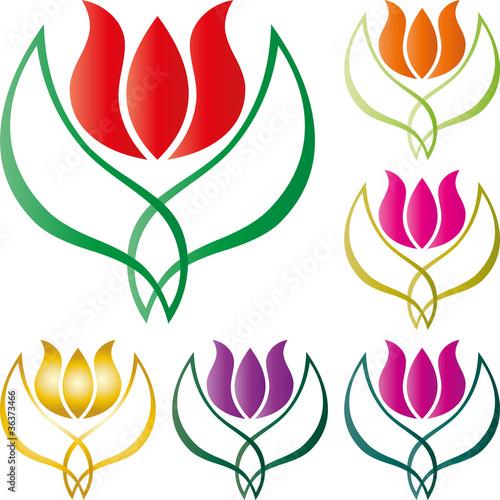 Blume, floral, Tulpen, Vektor, Hintergrund