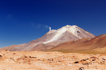 Bolivia, the most beautifull Andes, volcano Ollague
