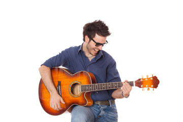 Young Man Playing Guitar