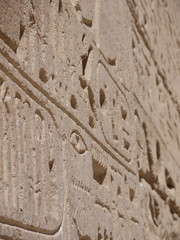 Hieroglyph close up
