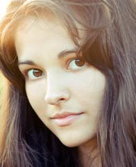 Portrait of beautiful cute young girl