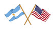 American and Argentinian alliance and friendship