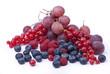 frutti di bosco con uva rosata