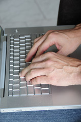 Hände Tastatur