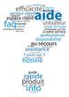 """Nuage de Tags """"AIDE"""" (service client questions icônes symboles)"""