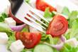 fresh salad and fork
