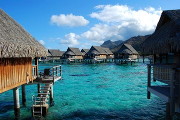moorea - french polynesia - bungalow