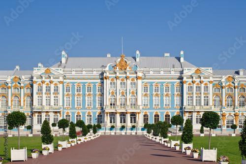 The Catherine Palace is the Baroque style, Tsarskoye Selo (Pushk