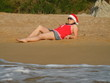 santa's helper on vacation