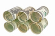 dollars banknotes rolls
