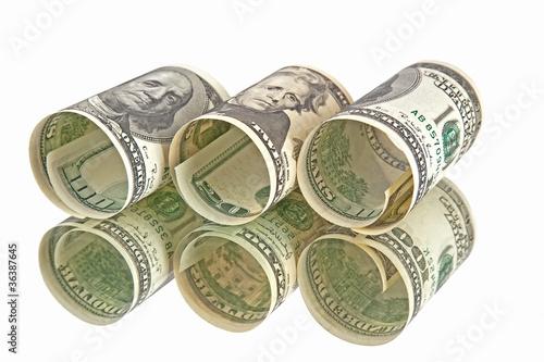 dollars banknotes rolls